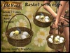 Basket with eggs and chick - Old World - Rustic / Medieval