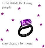 BIGDIAMOND RING - PURPLE