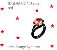 BIGDIAMOND RING - RED