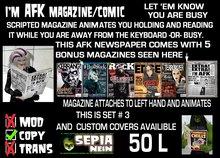 I'm AFK-magazine w/animation(&bonusPack Mags)[set3]