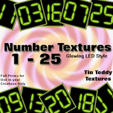*Tin Teddy* 25 LED Number Tiles Textures