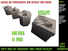 Sculpted Gift Box  1 PRIM :: The Gift Boxes Shop ::  KIT FULL PERMs FOR YOUR GIFTS