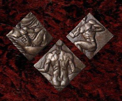 Bronze Wall Art- symmetry 3 pieces