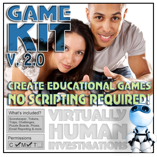 Virtually Human Game Kit 2.0 - Create games fast & easy [adventure games for training, learning, fun