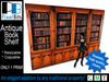Antique Book Shelf  - 1 prim!