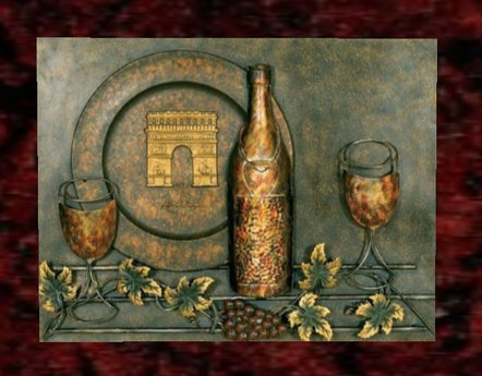 Metal Wall Art- wine set