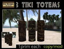 PROMO SAVE 200L!! 3 tiki totems -sculpted tiki totem-totem pole