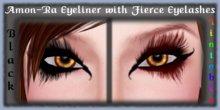 AMON-RA Eyeliner with Black & Tintable FIERCE Eyelashes - Tattoo Eye Makeup