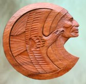 Native  American Wood Art- strength