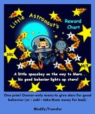 Mudlarks Astronaut Reward Chart - 1 Prim! Menu adds/subtracts stars!