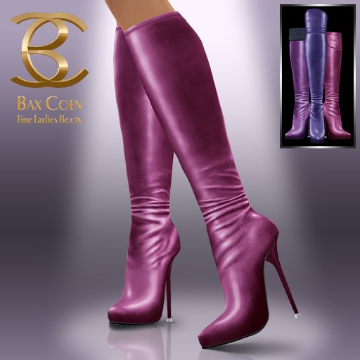 BAX Prestige Boots Violet Metallic