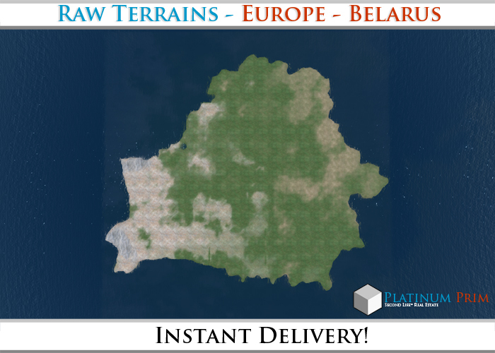 50% OFF SALE! RAW Terrain File: Europe - Belarus