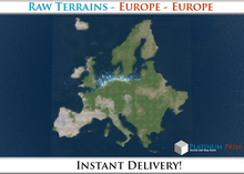 50% OFF SALE! RAW Terrain File: Europe