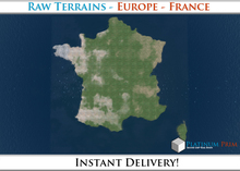 50% OFF SALE! RAW Terrain File: Europe - France