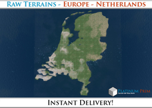 50% OFF SALE! RAW Terrain File: Europe - Netherlands