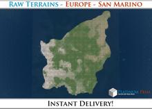 50% OFF SALE! RAW Terrain File: Europe - San Marino