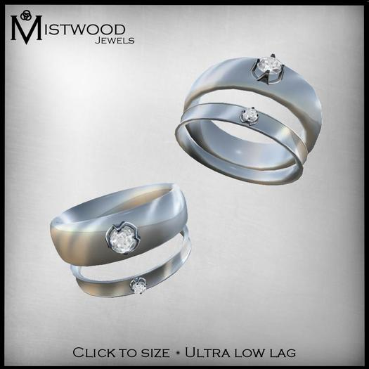 [Mistwood Jewels] Female Ring - Silver & Diamonds