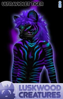 Luskwood Ultra Violet Tiger Avatar  - (Complete Male Furry Avatar)