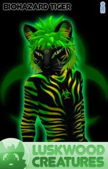 Luskwood Biohazard Tiger Avatar  - (Complete Male Furry Avatar)