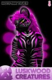 Luskwood Hot Pink Tiger Avatar  - (Complete Female Furry Avatar)