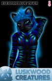 Luskwood Electric Blue Tiger Avatar - (Complete Female Furry Avatar)