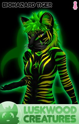 Luskwood Biohazard Tiger Avatar  - (Complete Female Furry Avatar)