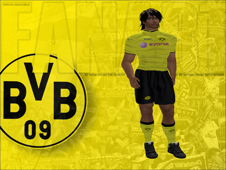 Second Life Marketplace Borussia Dortmund Bvb Soccer Uniform Deluxe Promo