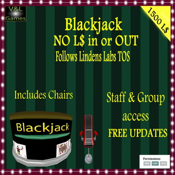 V&L Blackjack with bots and chairs