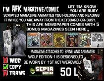 I'm AFK-magazine w/animation[USE with 1stActWerewolf] (&bonusPack Mags)