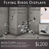 Flying Bird Displays by Trompe Loeil