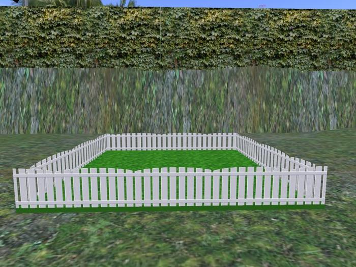 Bunny Pen Wooden Fence 13 White