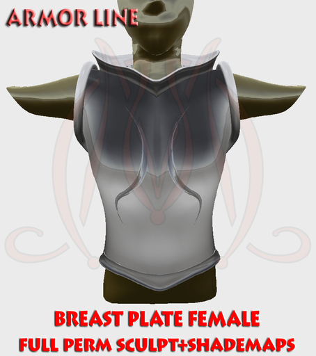 Breast Plate Female FULL PERM SCULPT+SHADEMAPS
