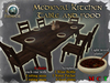 !! MOONSTRUCK !! Medieval Kitchen Table & Food - White plates - F&M FRP