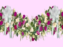 Rose Garland Purple