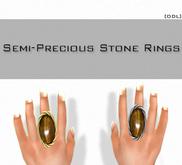 [DDL] Semi-Stone Rings / Tigers Eye (2)