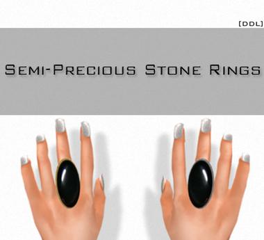 [DDL] Semi-Precious Stone Rings /Onyx (1)