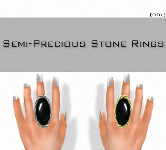 [DDL]Semi-Precious Stone Rings /Onyx (2)