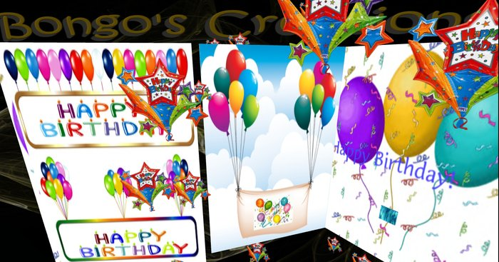 Outstanding Second Life Marketplace Bc Musical Birthday Card V18 Inside Personalised Birthday Cards Rectzonderlifede