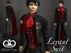 Levant Suit - Black-Red