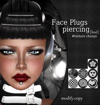 Face Plug piercing [BND] Unisex / Dollarbies