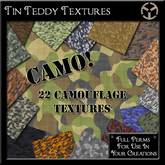 *Tin Teddy* Camo! 22 Camouflage Textures