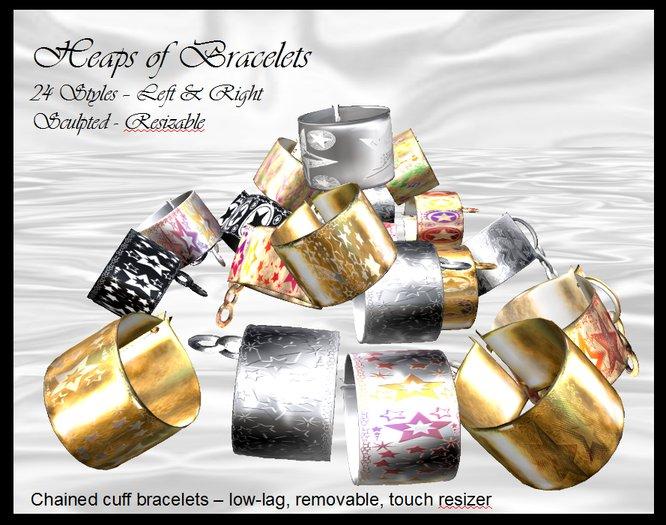 Chained Cuff Bracelets - 24 Styles - 48 Bracelets - Giftable