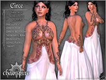 """Chaospire """"Circe"""" Sorceress Outfit (Original White Version)"""