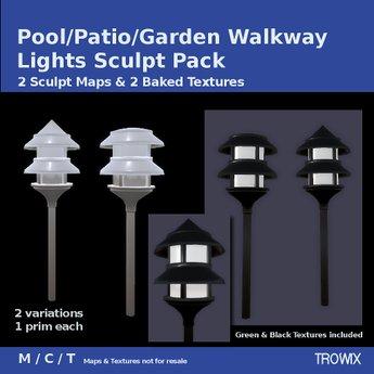 Trowix - Patio/Pool/Garden Walkway Lights Sculpt Pack