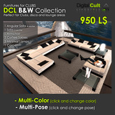 DCL B&W Collection - High quality furnitures for clubs and entertainment areas