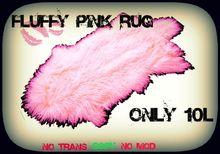 Pink Fur Rug