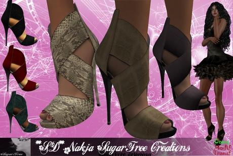 **SD** NADJA Elegant Romantic Hight Heel Shoes Stiletto (Full Option)