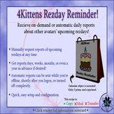 ON SALE: 4Kittens Rezday Reminder v1.221