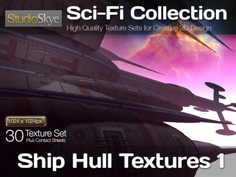 Studio Skye Sci-Fi Textures - 30 Ship Hull Textures 1 - Dark Hull