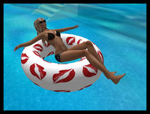Pool Float -Red Lips !    Lounger - Seating Inc.- 1 Prim!